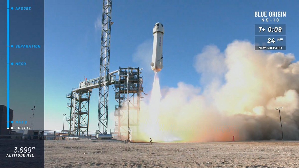 #video | this year's First successful launch of the New Shepard Blue Origin