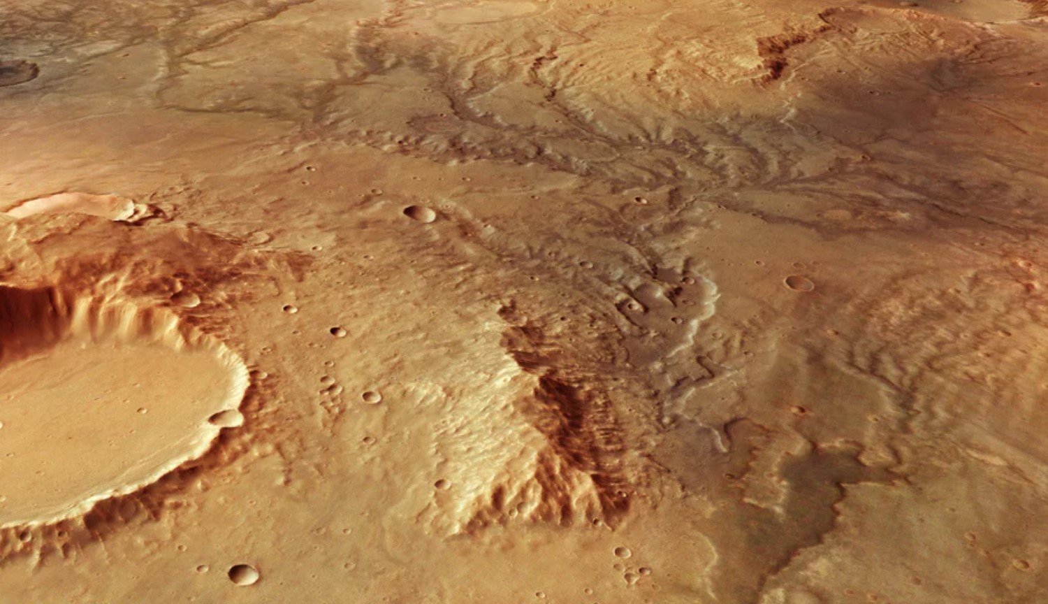 #photo | New satellite images of ancient Martian rivers