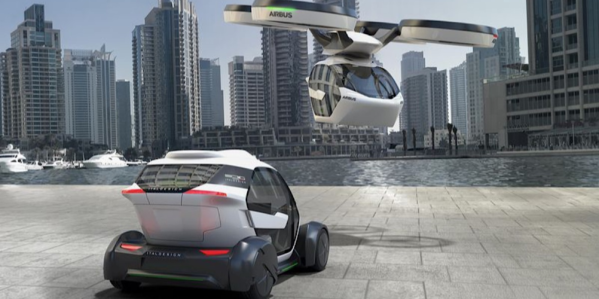 The concept of hybrid car and quadrocopter for use in urban environments