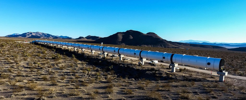 First look at the transport system of the new generation of Hyperloop One