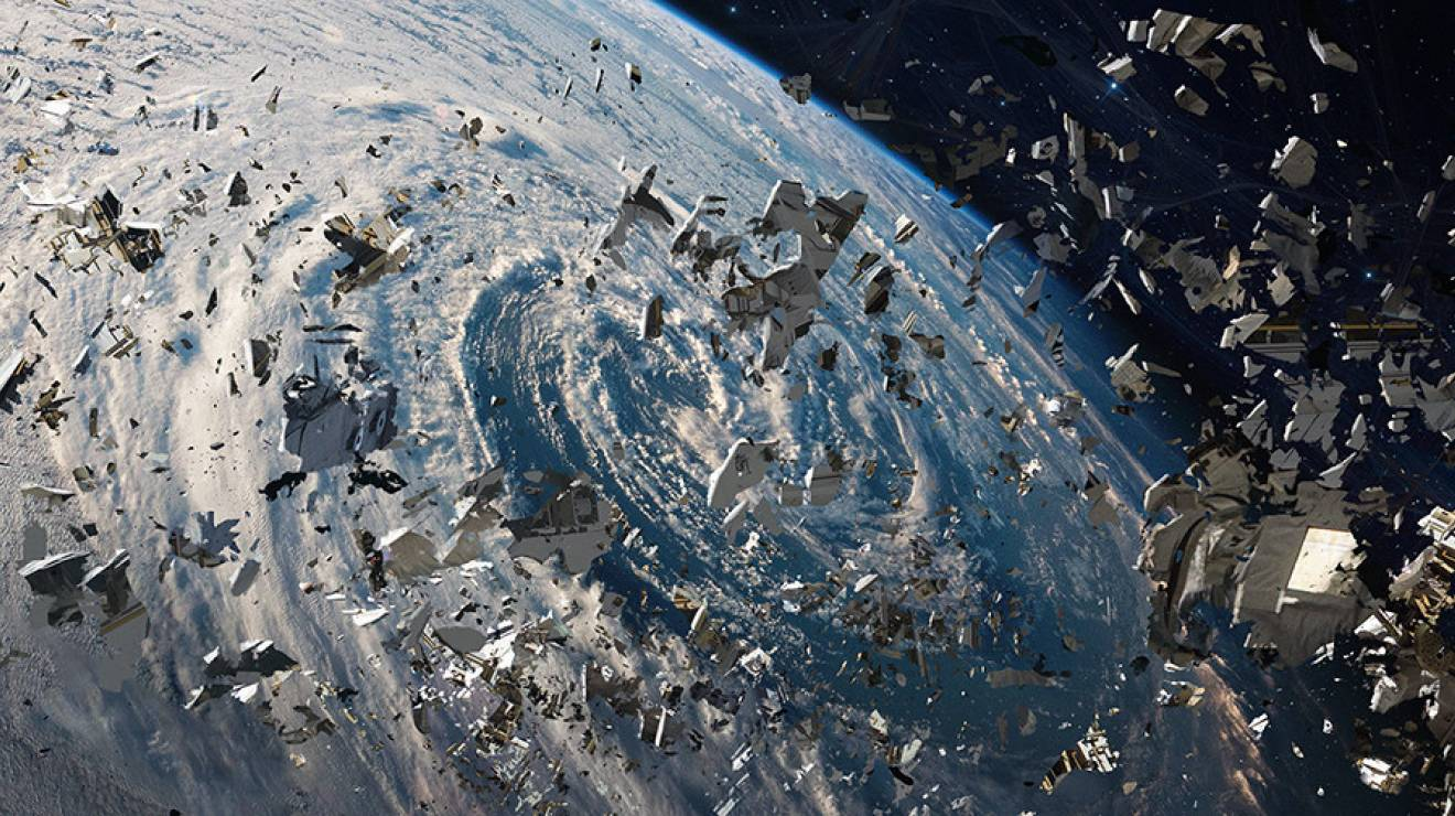 The problem of space debris starts to spiral out of control