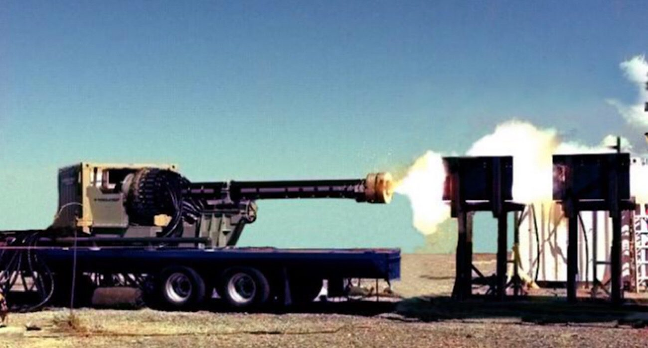 General Atomics conducted the first firing guided projectiles from a railgun cannon
