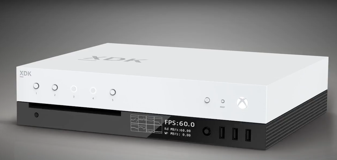Project Scorpio showed in the video. However, so far only the Dev Kit