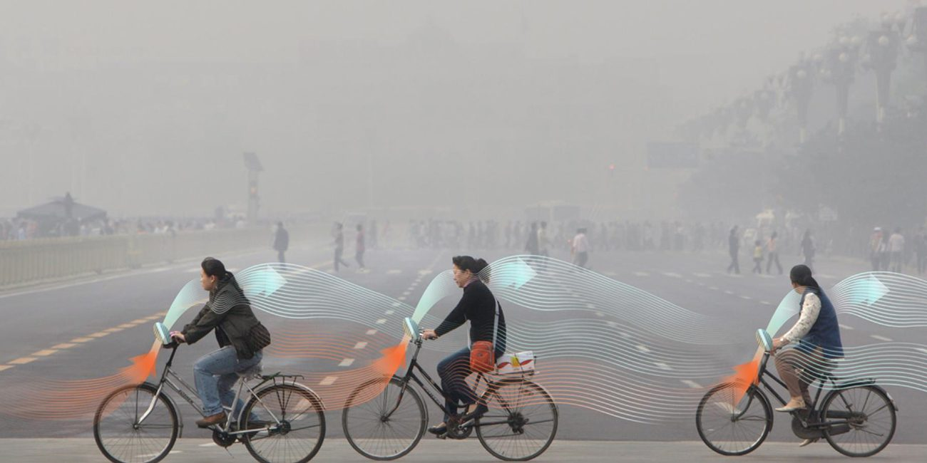 The air of Beijing has proposed to clear through the power of bicycles