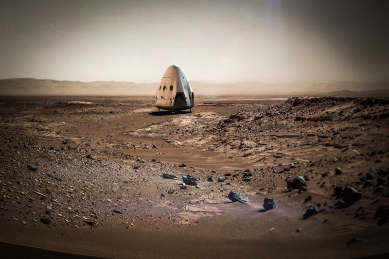 SpaceX can send to Mars two spacecraft