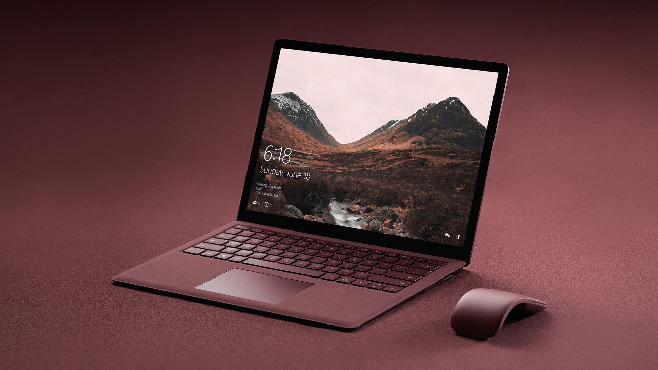 Microsoft has announced the notebook Surface Laptop running Windows 10's