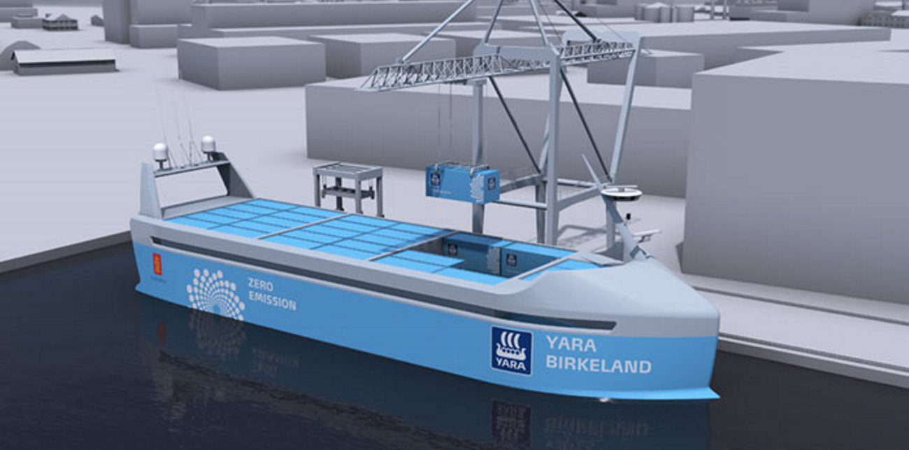 Began construction of the world's first cargo ship robot