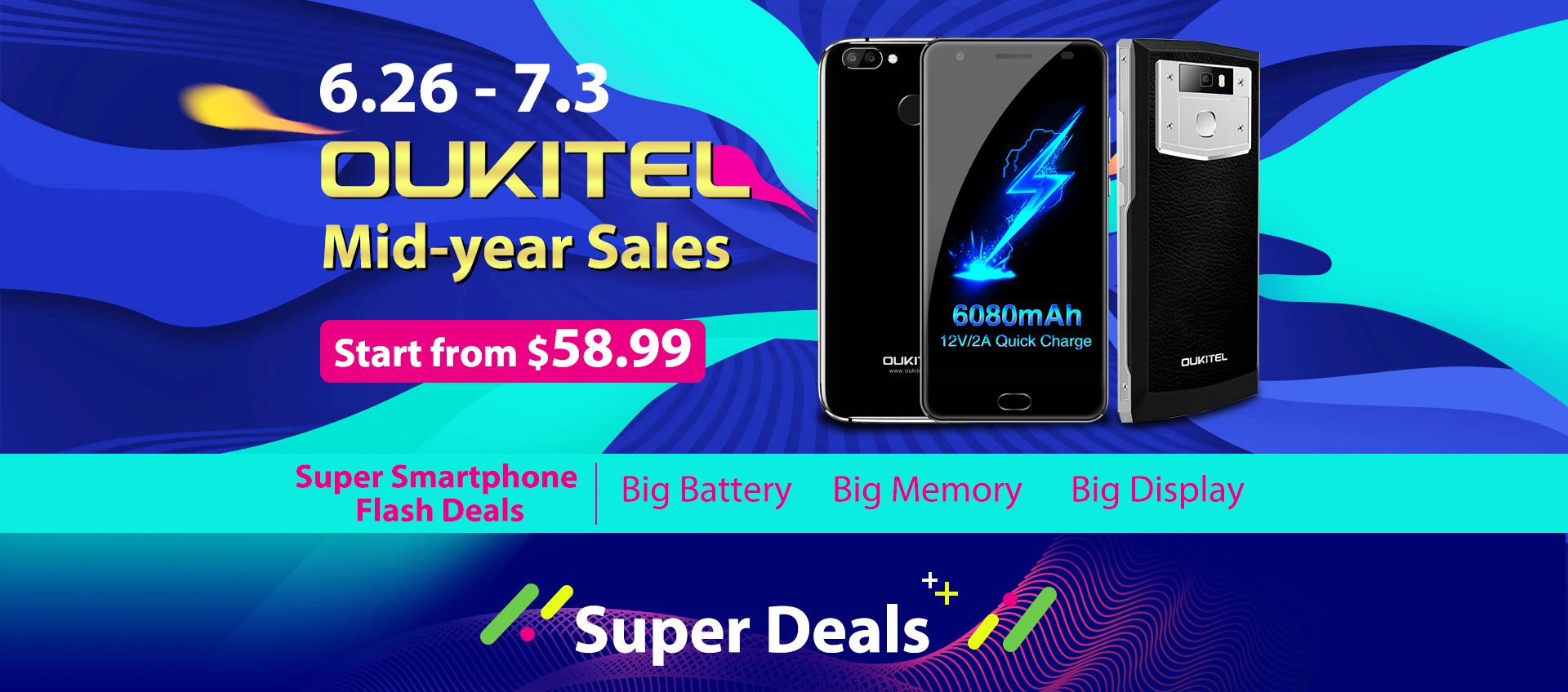 Summer sale from OUKITEL: hurry up to grab the smartphone for a penny!