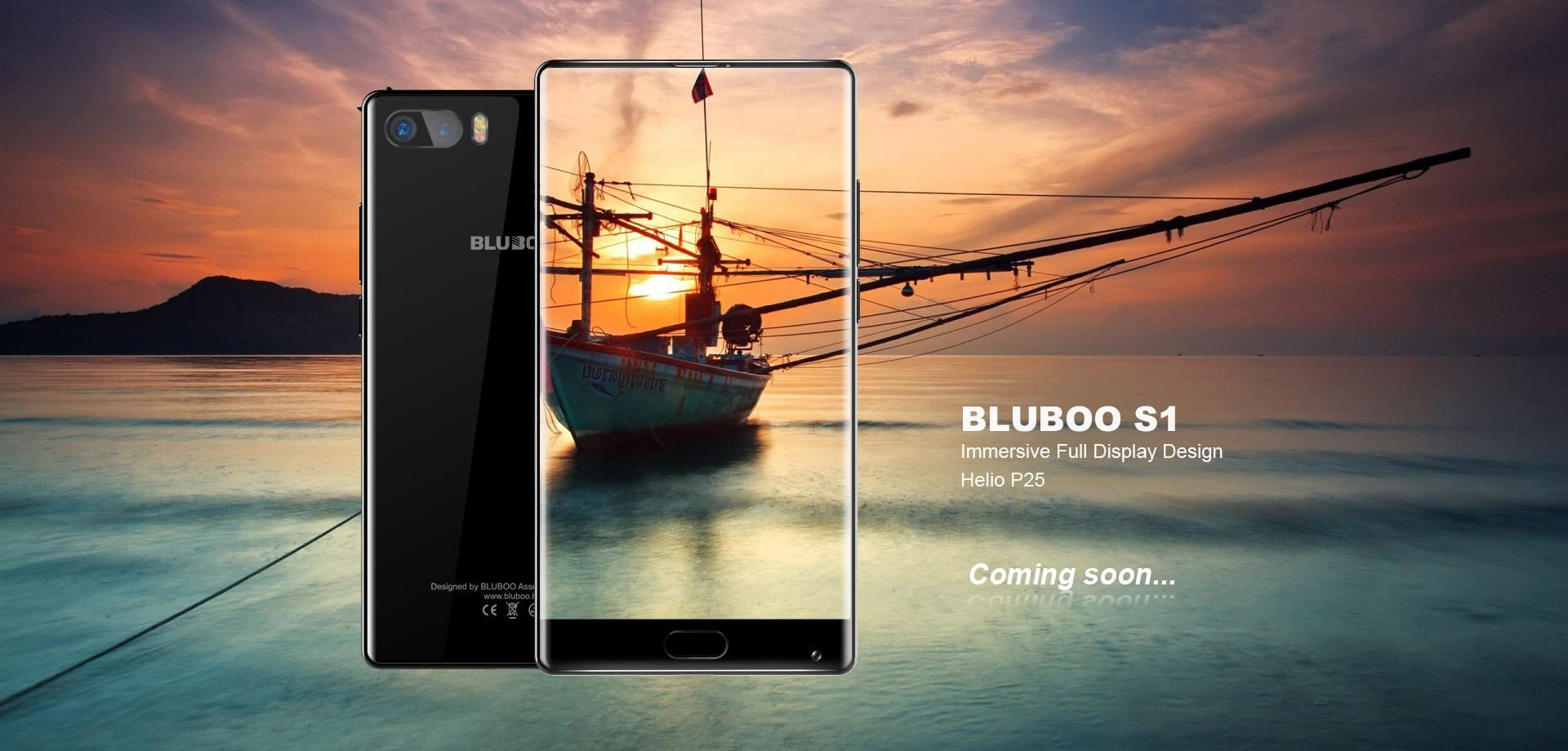 Frameless smartphone BLUBOO S1 you can obtain free