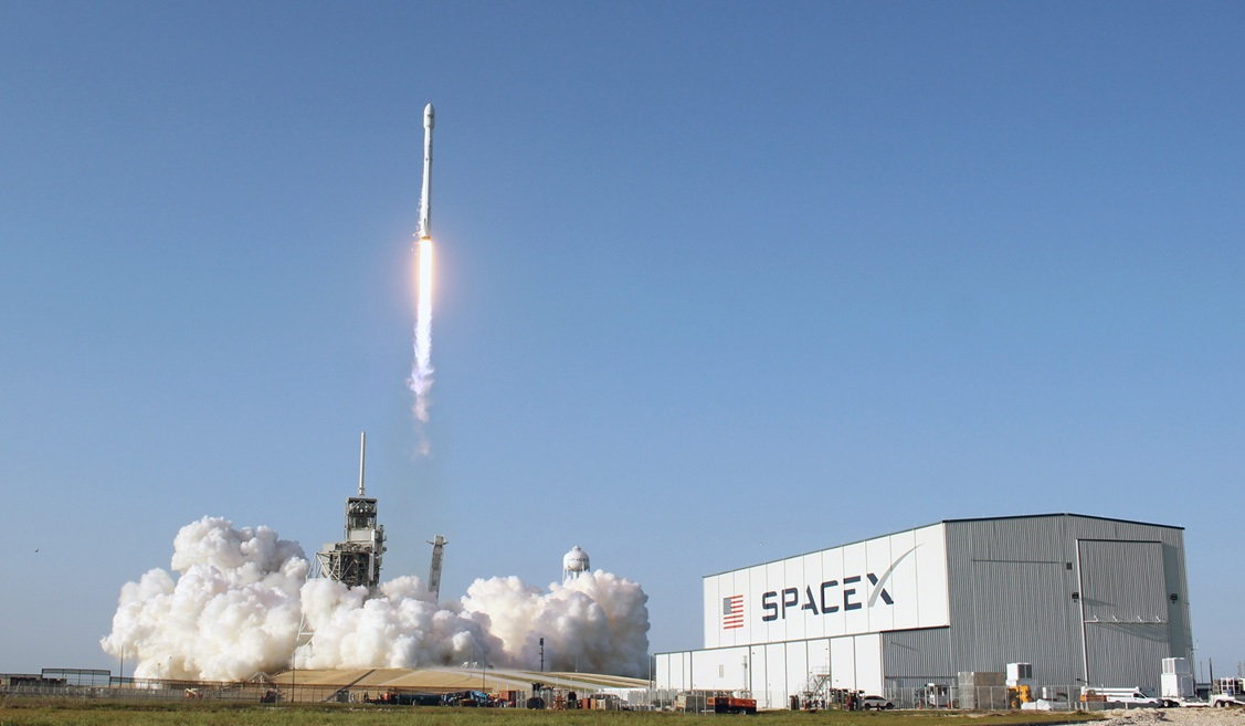 Stage Falcon 9 will put the robot