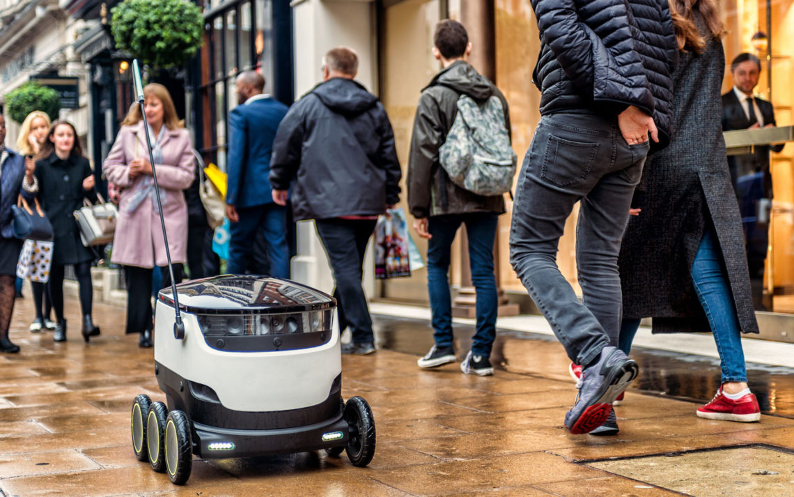 Estonia has permitted the use of robotic couriers