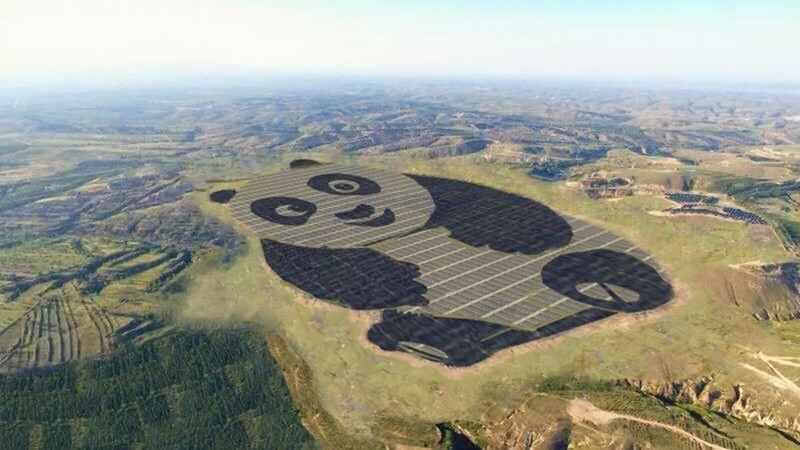 China built a solar power plant in the form of a Panda