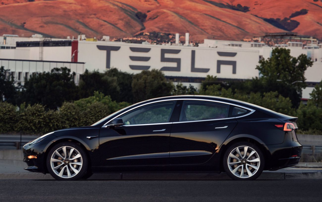 Elon Musk has revealed the first production Model 3