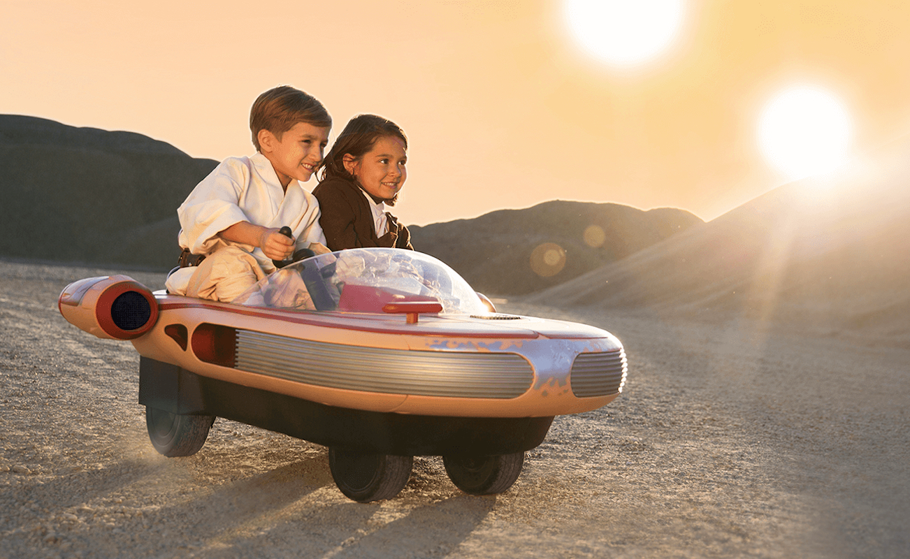 In the US you can buy a children's version of landspeeder from