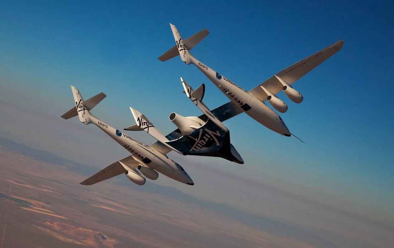 SpaceShipTwo began to prepare to fly with a jet engine