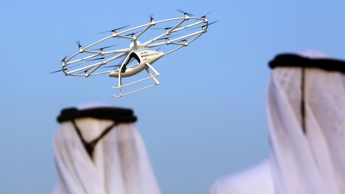 In Dubai taxi drone made its first test flight