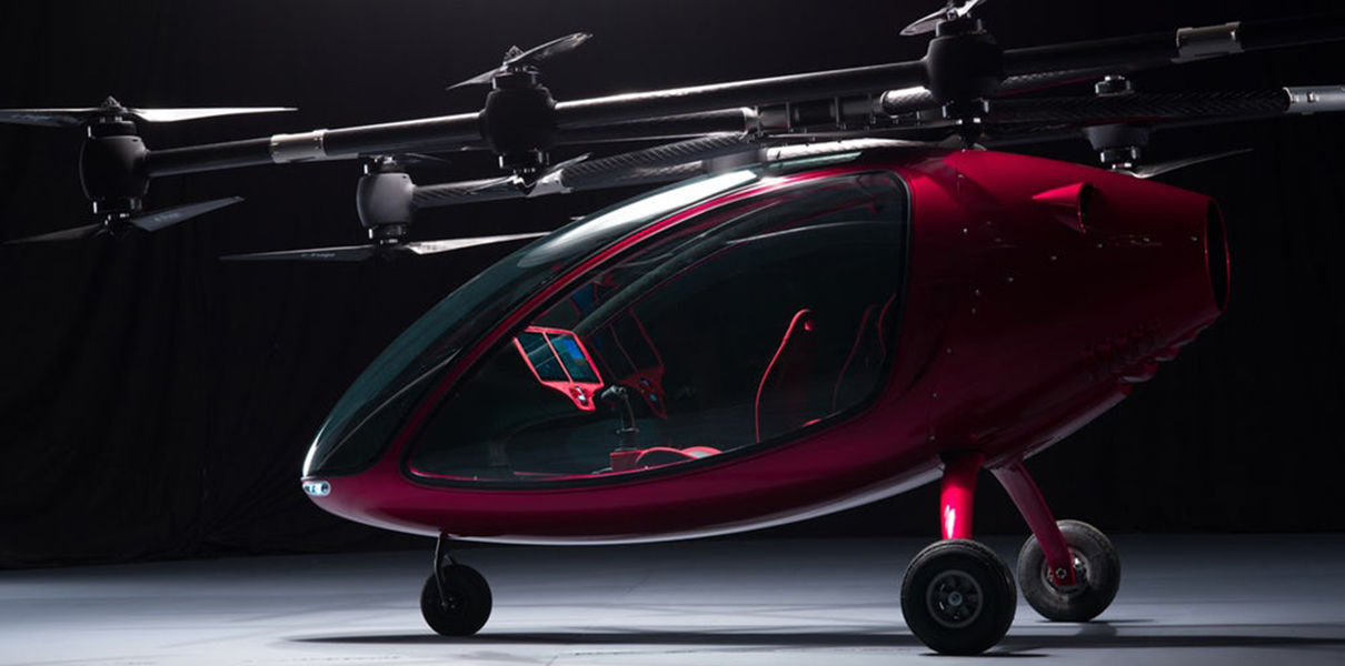 In Europe tested a flying taxi Passenger Drone