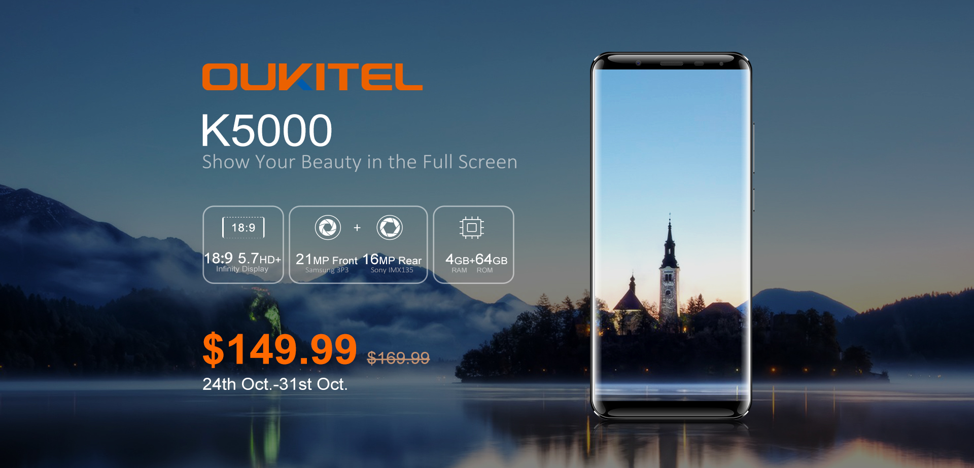 Smartphone OUKITEL K5000 available for pre-order