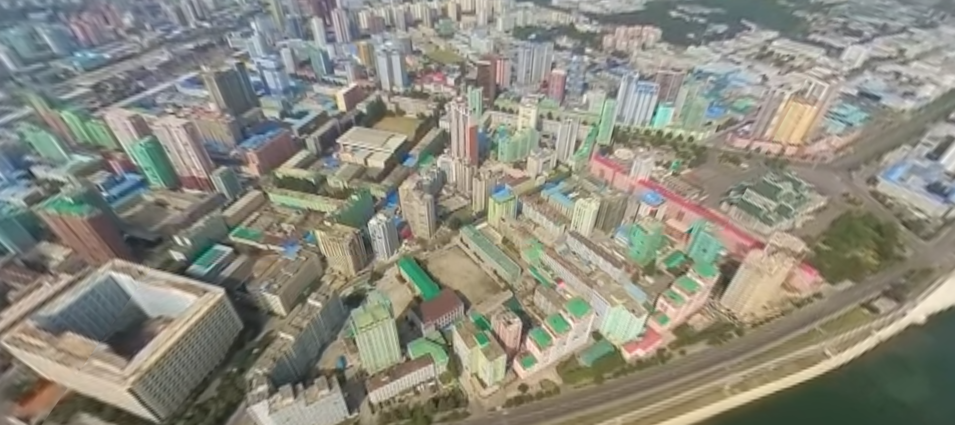 View the world's first video in a 360 degree shot of the sky over North Korea