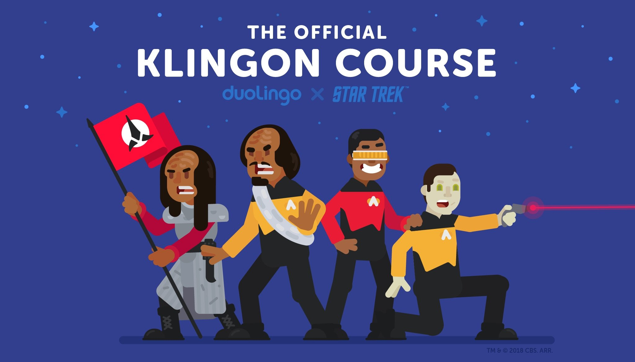 To learn the Klingon language from Star Trek now can anyone