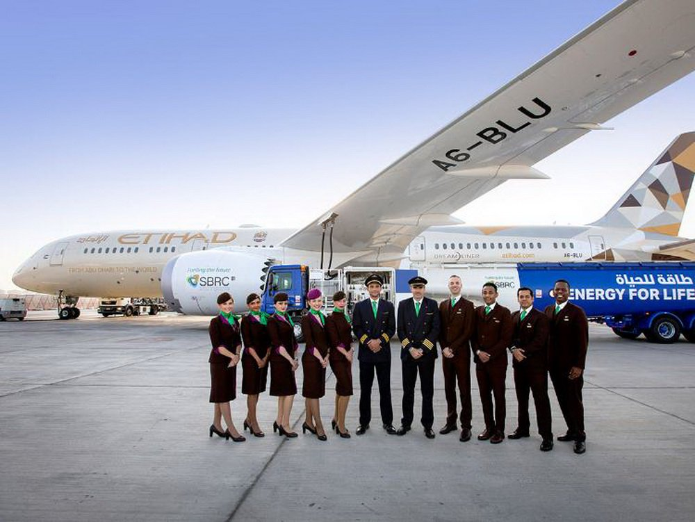 Company from UAE conducted the first commercial flight using biofuel