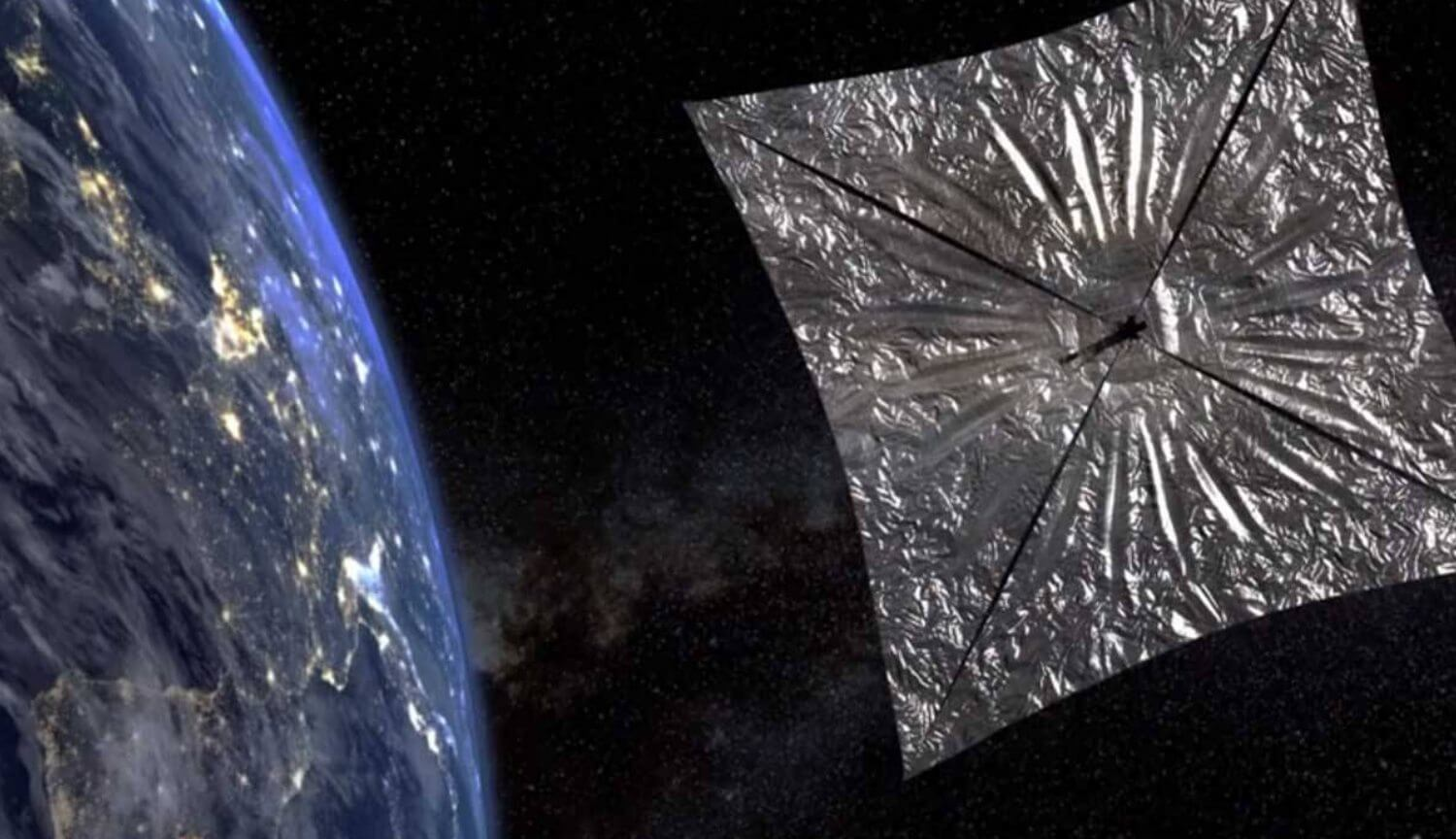 Above Ground opened a huge solar sail LightSail 2