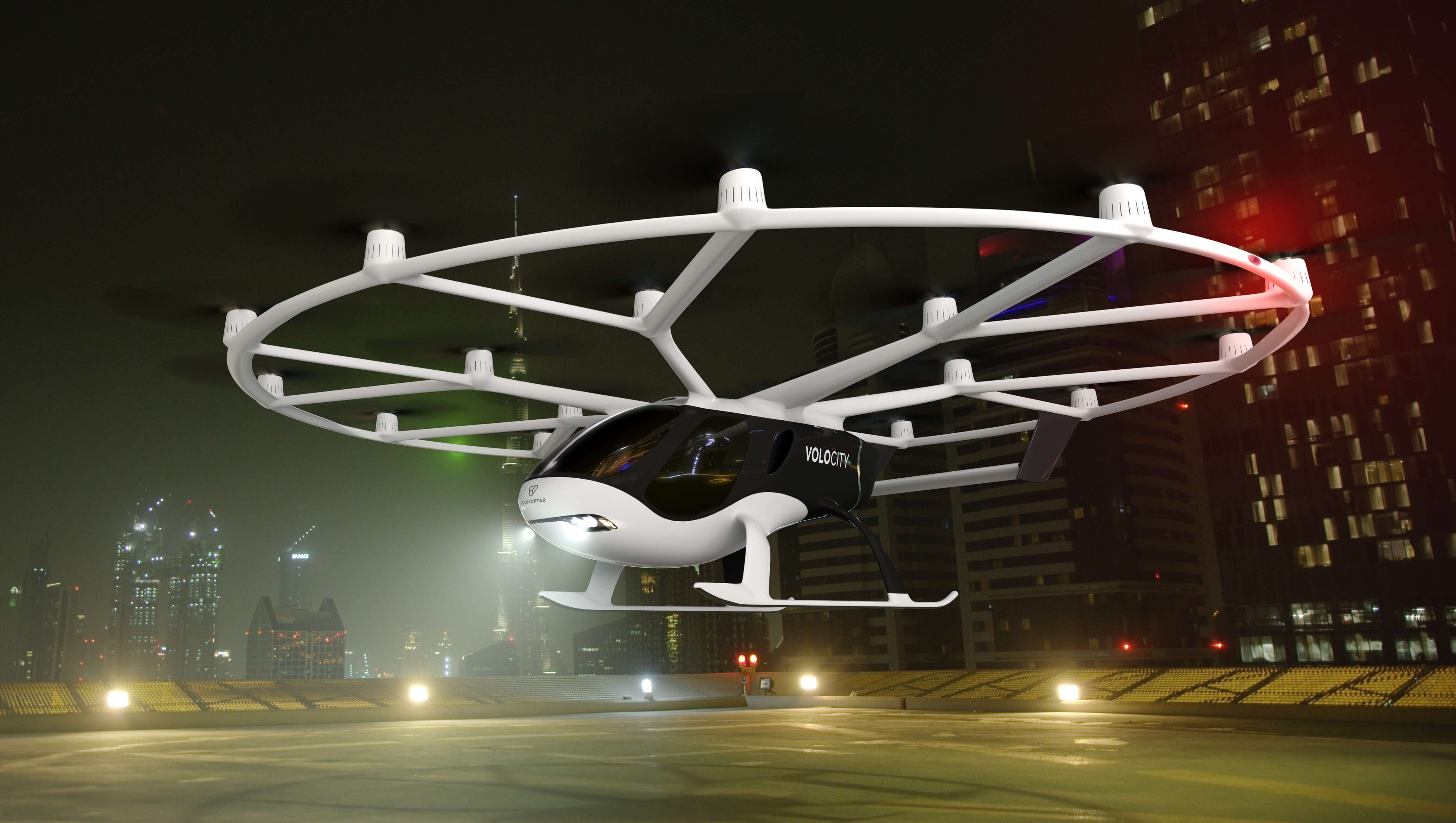 The final version of the flying taxi VoloCity