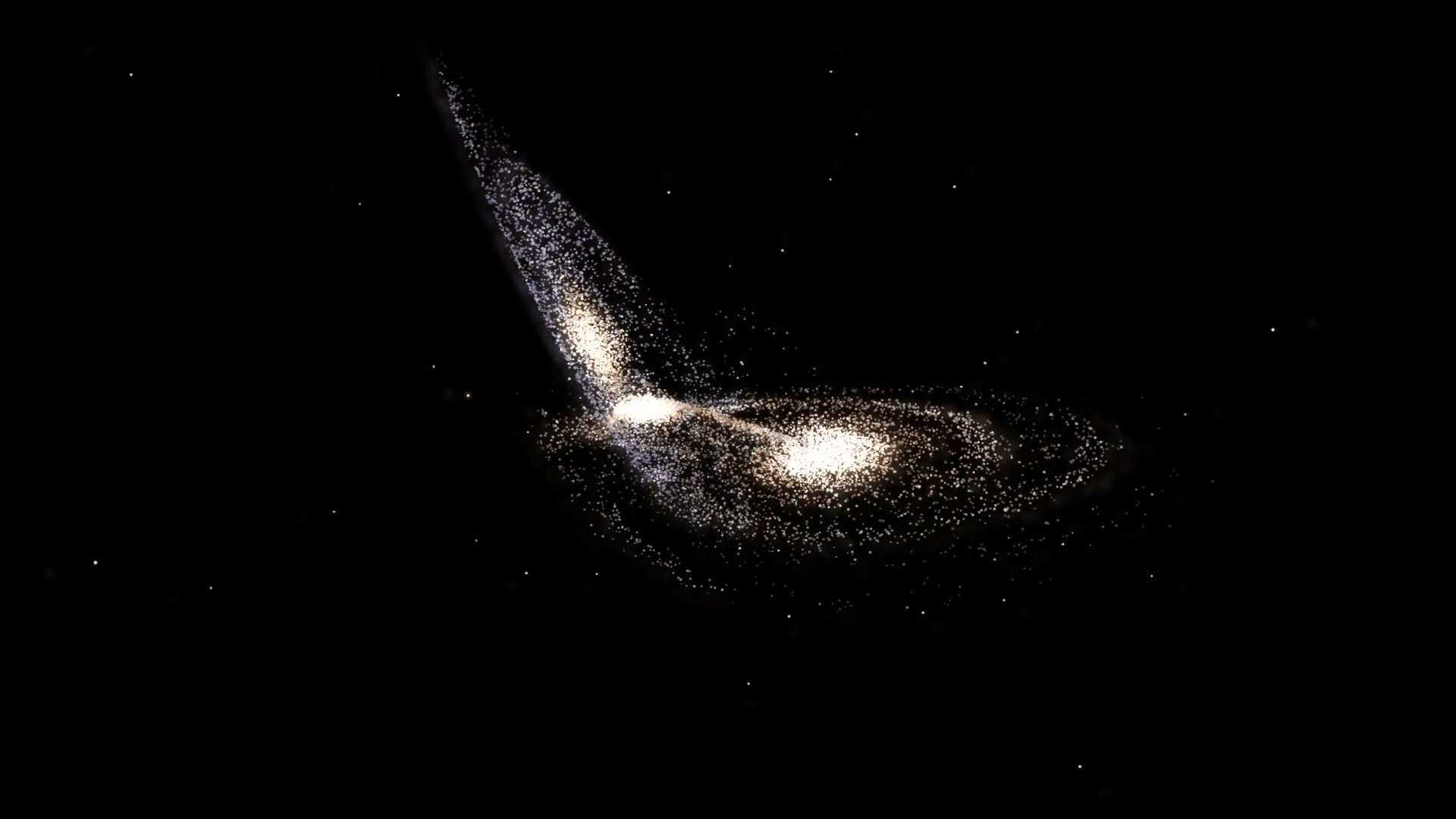 What can it tell us about dark matter collision of galaxies?