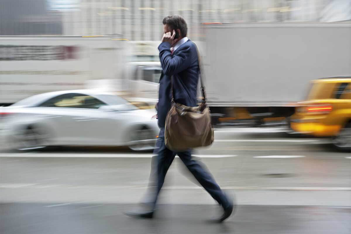 Why do people walk while talking on the phone?