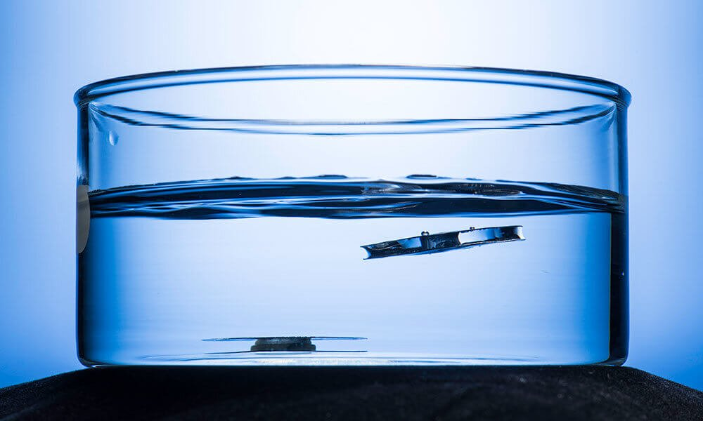 Created a metal that floats in water