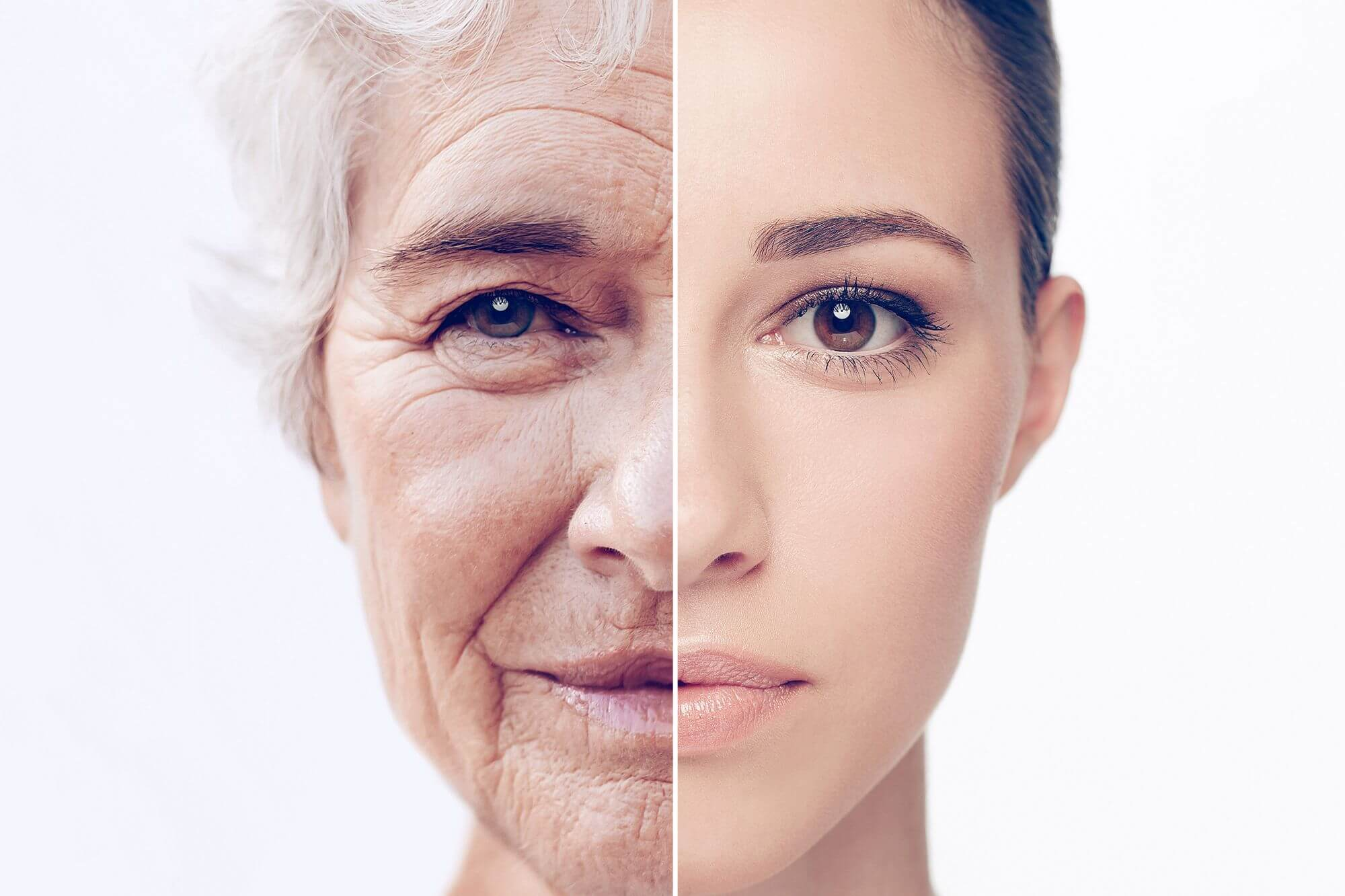 The aging process occurs in three stages: in 34, 60 and 78 years