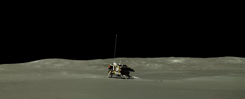 Chinese lunar Rover gave the new photos of the back side of the moon