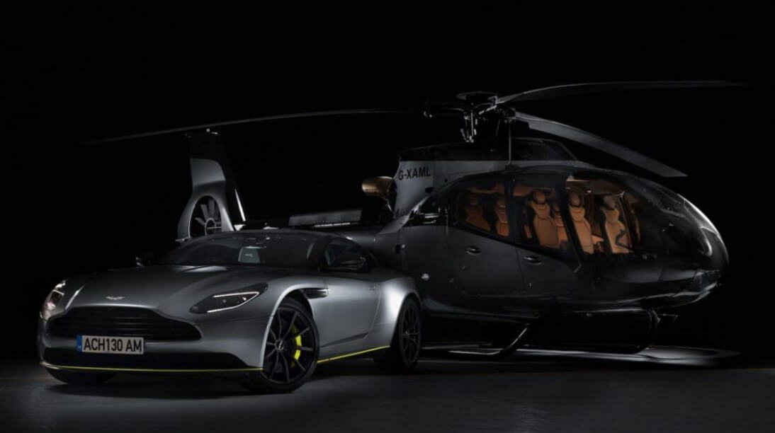 Car manufacturer Aston Martin has introduced a private helicopter
