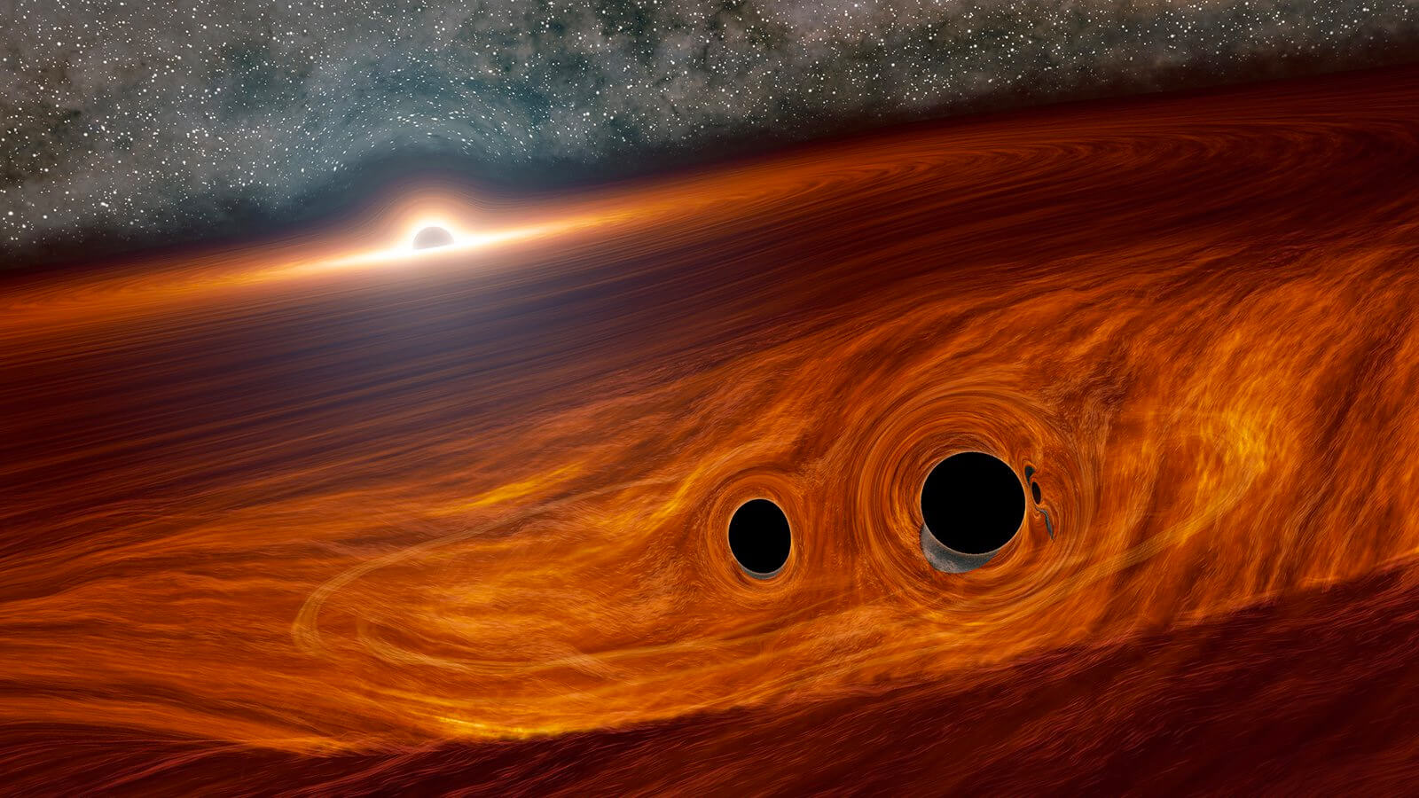 Astronomers first saw the light from the collision of two black holes