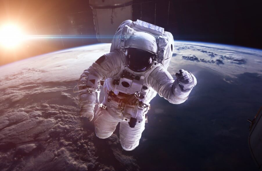 How does space affect human vision and movements?